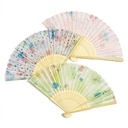 Floral Design Bamboo/Silk Hand fan  (051040472)