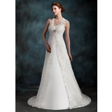 Sleeveless Lace Wedding Jackets/Wraps With Beading (013022602)