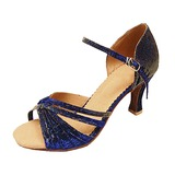 Women's Taffeta Heels Sandals Latin Ballroom Dance Shoes