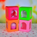 Lovely Cubic Cupcake Boxes (Set of 12)