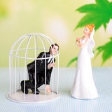 Funny & Reluctant Resin Wedding Cake Topper (119054555)