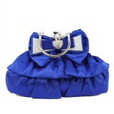 Shining Silk With Bowknot Clutches/Top Handle Bags