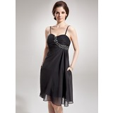 Empire Sweetheart Knee-Length Chiffon Cocktail Dress With Ruffle Beading