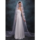 Cathedral Veils Tulle One-tier Lace Applique Edge Wedding Veils With Classic (006020359)