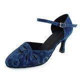 Women's Fabric Taffeta Heels Pumps Modern Dance Shoes