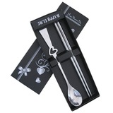 Heart Design Stainless Steel Spoon and Chopsticks Set