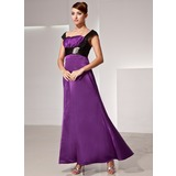 A-Line/Princess Sweetheart Ankle-Length Charmeuse Mother of the Bride Dress With Ruffle Sash Beading (008014418)