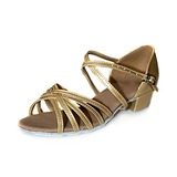 Women's Kids' Patent Leather Sandals Flats Latin Dance Shoes
