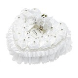 Lovely Rose Ring Box in Satin With Rhinestones (103052734)