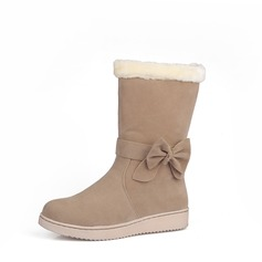 Suede Flat Heel Flats Mid-Calf Boots Snow Boots shoes