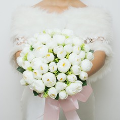 Classic Round Artificial Silk Bridal Bouquets