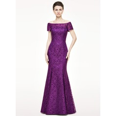 Trumpet/Mermaid Off-the-Shoulder Floor-Length Lace Mother of the Bride Dress