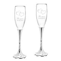 Personalized Fashionable Alloy Glass Toasting Flutes (2 Pieces)