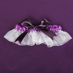 Double Ribbons Lilac Wedding Garter (104019514)