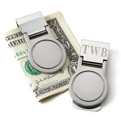 Personalized Round Stainless Steel Money Clips