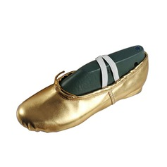 Women's Kids' Leatherette Flats Ballet Dance Shoes