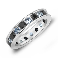 Simple Zircon/Platinum Plated Ladies' Rings