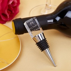 "Personalized ""Cheers For Love"" Chrome Bottle Stopper"