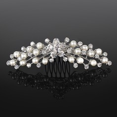 Tiaras Wedding Special Occasion Rhinestone Silver Headpieces With Clear (042019254)