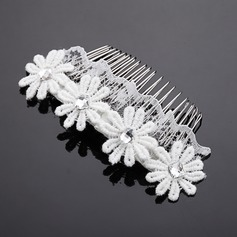 Pretty Rhinestone/Alloy/Lace Combs & Barrettes