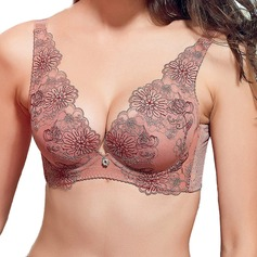 Chinlon Full Coverage Dramatic Lift Feminine/Classic/Teenager Bra