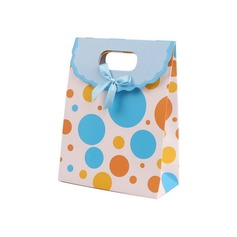 Polka Dots Pattern Favor Bags With Bow (Set of 12)