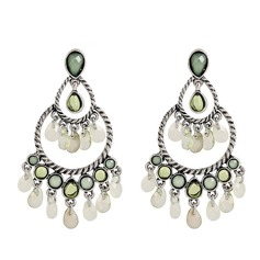 Fashional Alloy Rhinestones Plastic With Rhinestone Ladies' Fashion Earrings