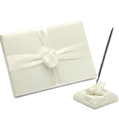 Simple Ribbons Guestbook & Pen Set