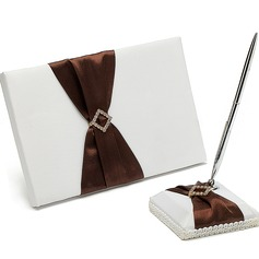 Graceful Rhinestones Guestbook & Pen Set
