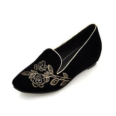 Suede Low Heel Flats Closed Toe shoes