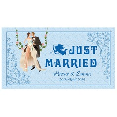 Personalized Bride And Groom Press Board Licence Plate