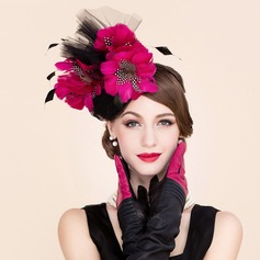 Ladies' Fashion Cambric With Feather/Tulle Fascinators