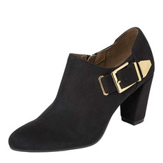 Women's Chunky Heel Boots With Buckle shoes