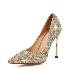 المرأة بريق يتلألأ كعب ستيليتو مضخات تو مغلقة مع آخرون أحذية (085146853)