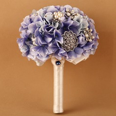 Elegant Round Ribbon Bridal Bouquets/Bridesmaid Bouquets