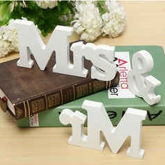 """Mr. & Mrs."" PVC Decorative Accessories"