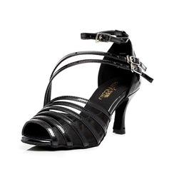 Women's Leatherette Heels Latin Ballroom With Buckle Dance Shoes