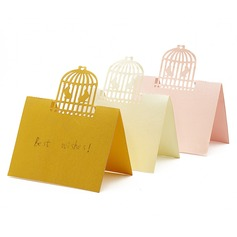 Birdcage Laser Cut Pearl Paper Place Cards