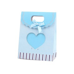 Heart style Favor Bags With Bow (Set of 12)