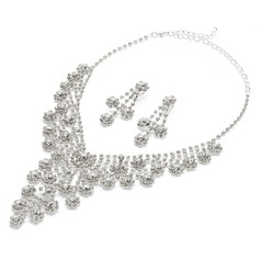 Fancy Alloy/Rhinestones Ladies' Jewelry Sets