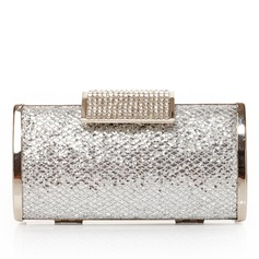 Charming Satin/Metal With Rhinestone Clutches