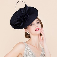 Ladies' Eye-catching Cambric With Silk Flower Fascinators