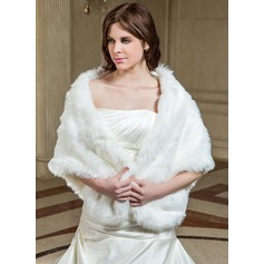 Faux Fur Special Occasion Shawl