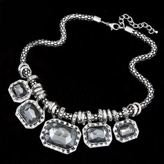 Gorgeous Alloy With Imitation Crystal Ladies' Fashion Necklace