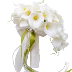 Comely Cascade Ribbon/PE Bridal Bouquets/Bridesmaid Bouquets