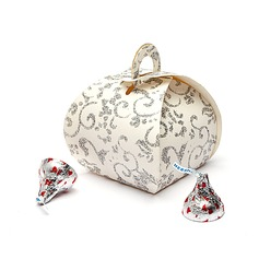 Floral Design Handbag shaped Favor Boxes