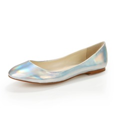 Patent Leather Flat Heel Flats Closed Toe With Others shoes