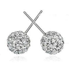 Elegant Alloy/Sterling Silver With Cubic Zirconia Women's Earrings