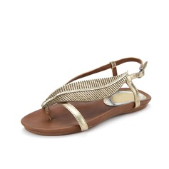 Real Leather Flat Heel Sandals Flats Slingbacks With Buckle shoes