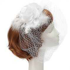 Gorgeous Artificial Silk/Net Yarn/Feather Fascinators